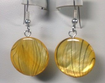 Yellow Shell Earrings -SE020