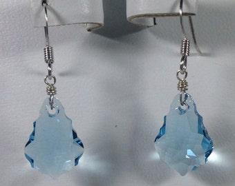 Swarovski Crystal Aquamarine Baroque Earrings -SCD007
