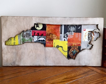 North Carolina Beer Can Collage