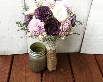 Purple Bouquet, wedding bouquet, sola bouquet, purple, bridal bouquet