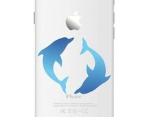 D630 Dolphin iPhone Vinyl Decal Sticker for Apple iPhone (4, 5, 6, 6+)
