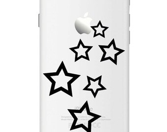 D562 Stars iPhone Vinyl Decal Sticker for Apple iPhone (4, 5, 6, 6+)