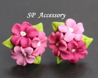 Earrings Bouquet, earrings clay, jewelry earrings, flower earrings, sweet gift
