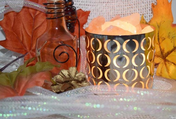 Chrome Himalayan Salt Night Light