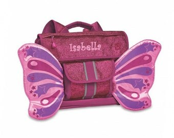 "Personalized Bixbee ""Sparkalicious"" Butterflyer Backpack - Ruby"