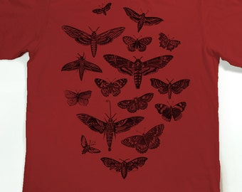 Moth Shirt - Men's Insect Tshirt - Moths and Butterflies T-shirt - Graphic tee