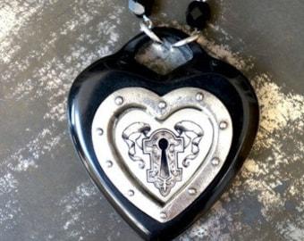 Keyhole Heart Necklace