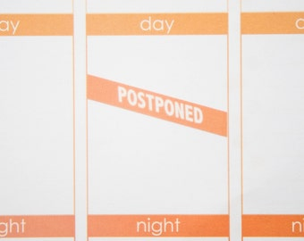 Postponed Stickers  | Planner Stickers designed for use with the Erin Condren Life Planner | 0914