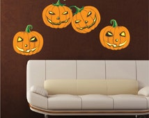 Unique Jack O Lantern Decal Related Items Etsy