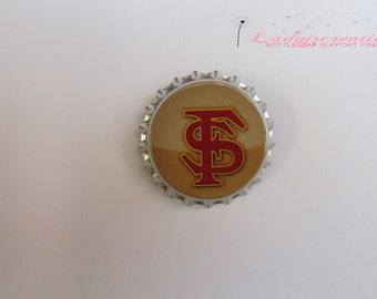 College Football (FSU) Bottle Cap Pin