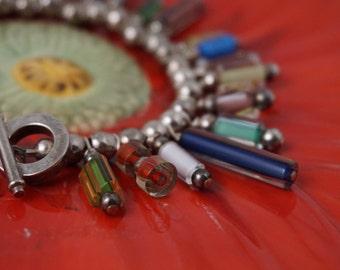Dangle Glass Bead Bracelet