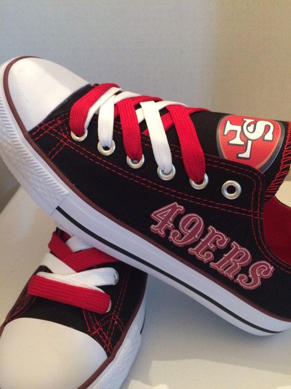 san francisco 49ers unisex tennis shoes by sportzshoeking