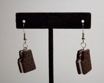Miniature ice cream bar earrings