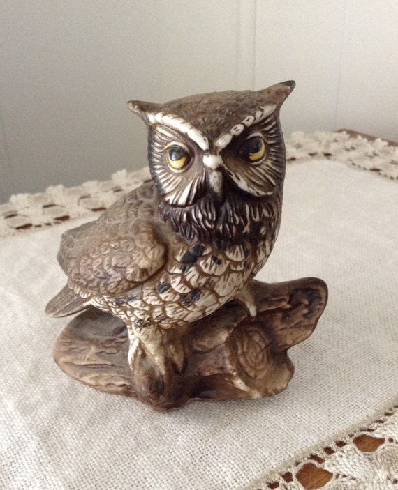 Vintage Owl Kitchen Decor: Vintage Owl Figurine Country Decor Home Decor Animals