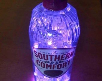 Upcycled Southern Comfort Whiskey bottle lamp by JCLamps