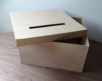 DIY card box, rustic card box , wedding card box