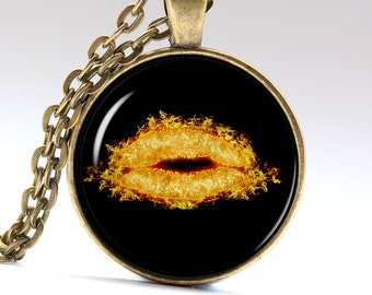 Kiss Pendant Lips Jewelry Fire Kiss Love Necklace Love Pendant For her Jewelry LG097