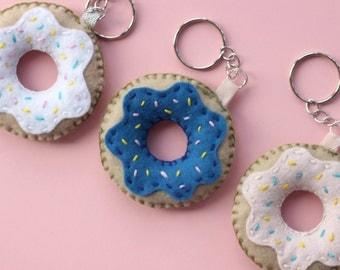 Felt Doughnut Keyring/Keychain   Cute Accessory