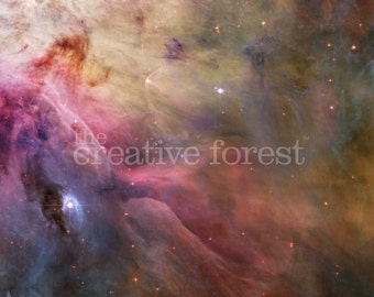 Hubble Deep Space Image, Reproduction Rolled CANVAS PRINT 33x24 in.