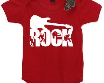 Rock Guitar Baby Grow, Rock Parents Baby Grow, Boy's Rock Baby Grow, Newborn Baby Grow, Rocker Baby Grow, Girl's Rocker Baby Grow, Jumpsuit