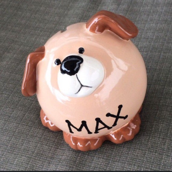 large ceramic dog piggy bank