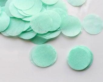 CONFETTI / MINT  confetti / tissue paper confetti / wedding decorations / table decoration / wedding party confetti / balloon confetti