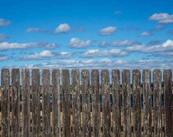 Beach Photography, Weathered Fence, seaside, decor, Fine Art Photography - Nantucket Fence