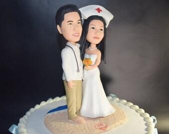 Doctor & Nurse Custom Wedding Cake Topper