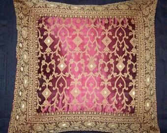 Indian sari pillow cover, daybed pillow
