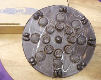Marblelously Dark Chocolate Pizza