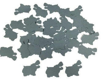 100 Grey Hippo Confetti, Die Cut Hippo, Baby Shower, Jungle Theme Party, Jungle Décor, Birthday Party, Safari Party, Safari Theme, Jungle