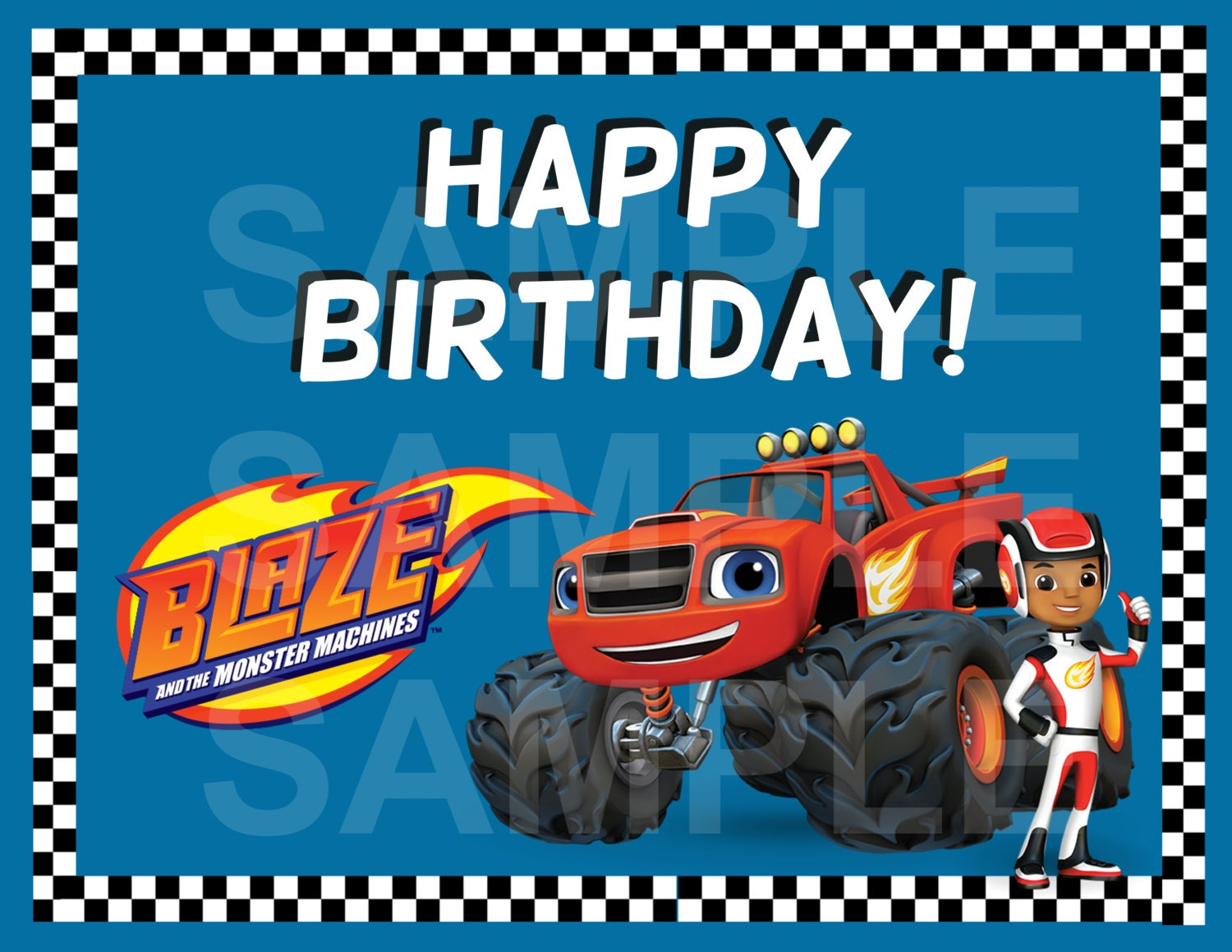 Blaze And The Monster Machines Theme Birthday Party