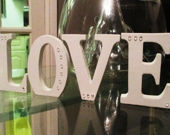 LOVE Letters.  White freestanding 'love' letters