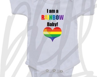 Rainbow baby onesie for baby boy or girl super cute in all sizes