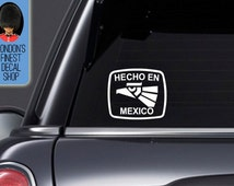 Hecho En Mexico- Car Vinyl Decal