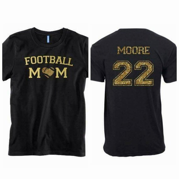 Glitter Football Mom Shirt Custom Football By Valleypress