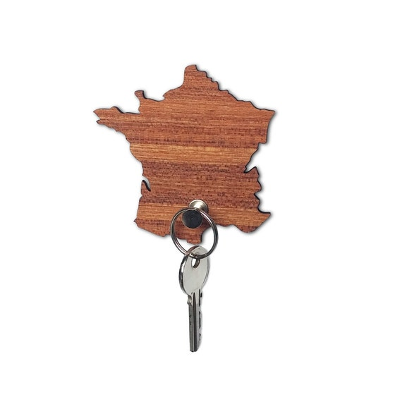 France map wall hook, holds small items, necklace wall hook, necklace holder, keychain holder, country map souvenir, travel gifts, key hooks