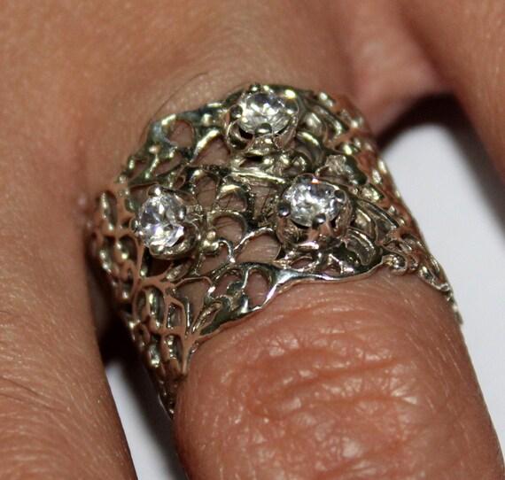 unique cz ring cz ringcz wedding by handmadejewelsstore on