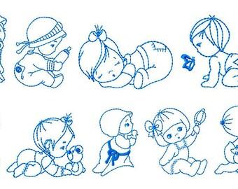 9 baby Bluework