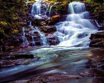 Adirondack Waterfall, Waterfall Photo, Picture of Waterfall on an Adirondack Stream, Wall Art, Adirondack Waterfall Print, Waterfall Art
