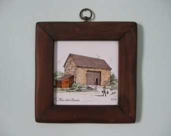 The Old Barn By Eric Sloan Framed Tile