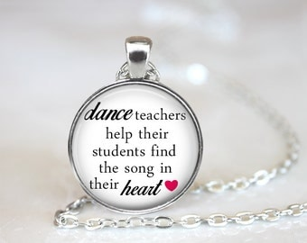 Dance Teacher Gift, Dance Jewelry, Dance Necklace, Ballet Teacher GIft, Dance Gift, Dance Recital Gift