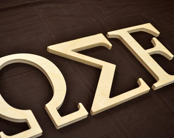 wooden greek letter wooden letters alpha beta gamma sorority letters 12 inch thick 12 tall
