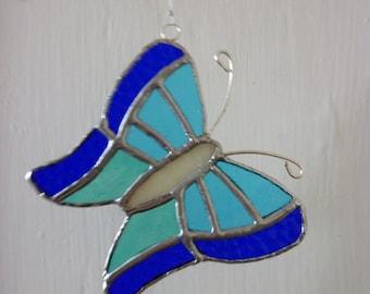 Blue Butterfly suncatcher