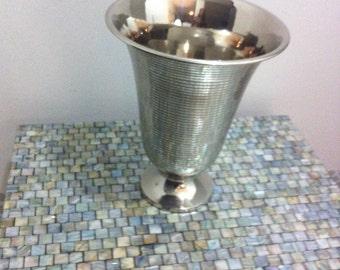 Silverplate Trumpet Decor Vase/Wine Chiller
