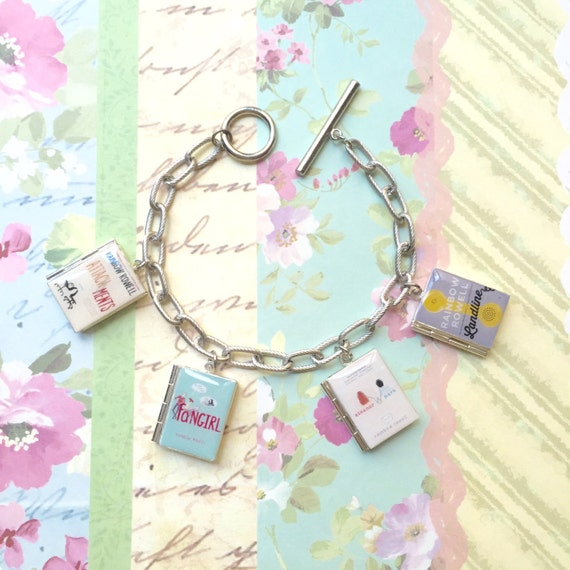 Fangirl/Eleanor and Park/Attachments/Landline by Rainbow Rowell Book Locket Bracelet/Necklace/Bookmark/Keyholder/Bag Charm