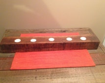 Rustic Centerpiece, Holds 5 Tea Lights, Home Decor, Reclaimed Wood Center Piece, Rustic, Country Table Centerpiece