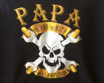 Papa Man Myth Legend Graphic Tshirt