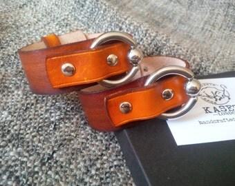 Leather bracelet, cuff bracelet ''Brown/BritishTan