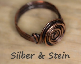 Copper Ring With Spiral